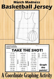 March Madness - Basketball Jersey - A Coordinate Graphing Activity