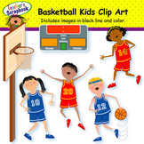 Basketball Kids Clip Art