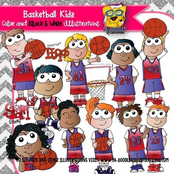 Basketball Kids Clipart