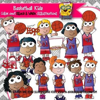 Basketball Kids Clipart