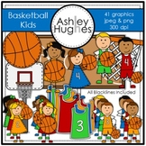 Basketball Kids Clipart [Ashley Hughes Design]