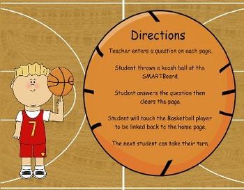 Basketball Koosh Ball Game  SMARTBoard