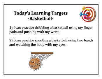 Basketball Learning Targets