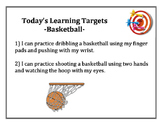 Basketball Learning Targets