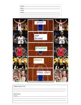 Basketball MVP Behavior Chart