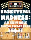 Basketball Madness:  An Editable Digital Basketball-Themed