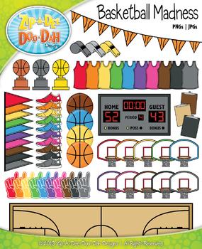 Basketball Madness Clipart {Zip-A-Dee-Doo-Dah Designs}