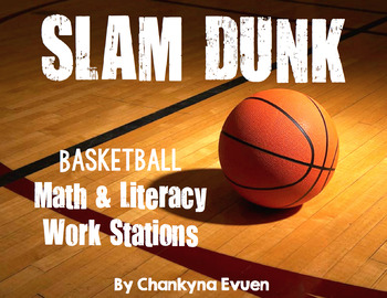 Basketball Madness Common Core Aligned Literacy and Math Centers