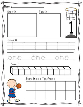 Basketball Number Recognition Composing 1-10