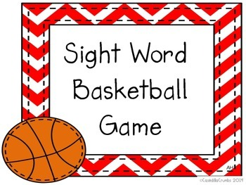 basketball sight word game by casedillacrumbs teachers pay teachers