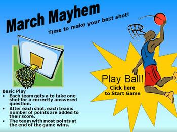 Basketball - March Mayhem - PowerPoint Game