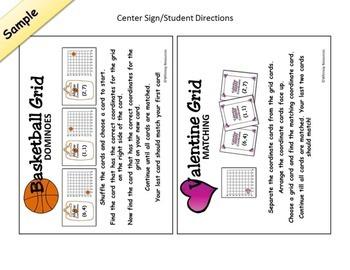 Math Center Bundle Valentine Basketball
