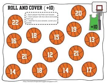 Basketball Math Centers-FREEBIE