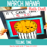 Basketball Math Craft | Telling Time Activities
