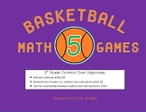 Basketball Math Games: Add and Subtract