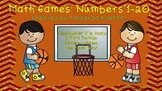 Basketball Math Games: Number Recognition and Counting 1-20