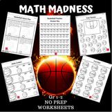 Basketball Math Madness NO Prep Worksheets