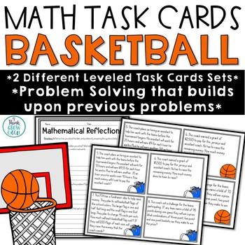 Basketball Math Problem Solving Task Cards