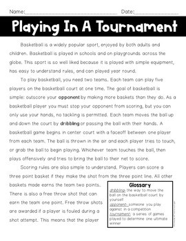 Basketball Math Problem Solving Task Cards and Close Reading Bundle