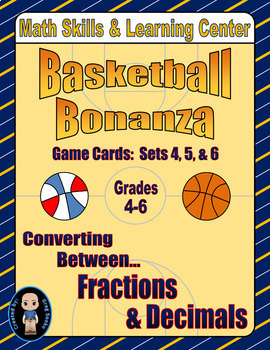 Basketball Bonanza Game Cards (Converting Fractions to Dec