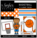Basketball Mini Clipart Bundle {A Hughes Design}