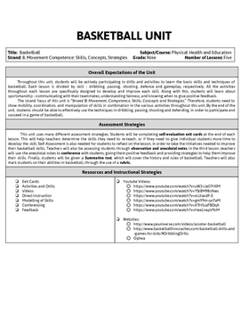 Basketball Mini Unit