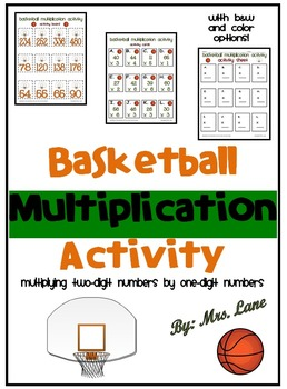 Basketball Multiplication Activity