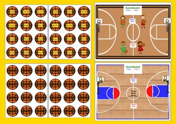 Basketball Math Centers:  Multiplication-3 Ways To Play- 168 Mutiplication Facts