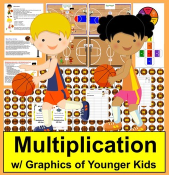 Basketball Math Centers:  Multiplication-3 Ways To Play- 1