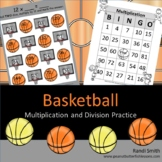 Basketball Multiplication and Division Games and Word Problems