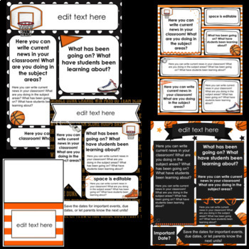 Basketball Newsletter Templates