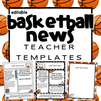 Basketball Newsletter Templates