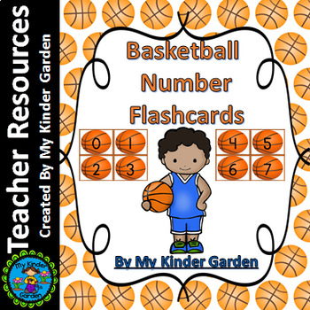 Basketball Number Math Flashcards 0-100