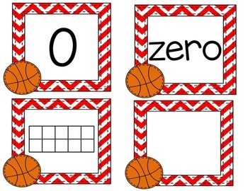 Number Recognition to 10 ( Basketball)