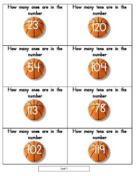 Basketball Number Sense - Game