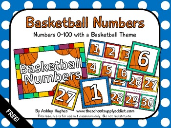 FREE Basketball Numbers