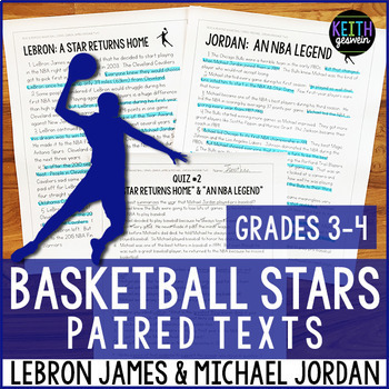 Basketball Paired Texts: LeBron James and Michael Jordan (Grades 3-4)