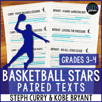 Basketball Paired Texts: Steph Curry and Kobe Bryant (Grades 3-4)