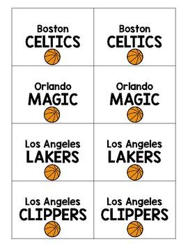 Find Your Partner - Basketball Cards