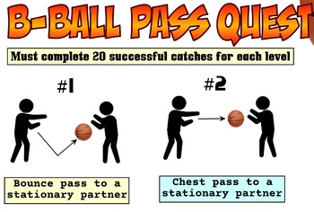 PE Basketball Pass Quest Skill Progression - 9 Levels!