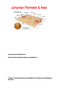 Basketball Perimeter & Area Assessment with Differentiated Assessment