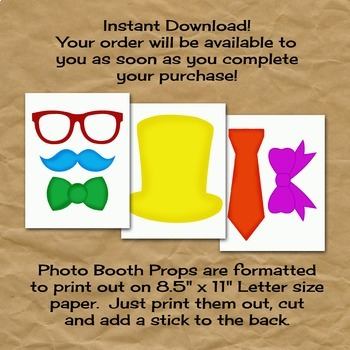 Basketball Photo Booth Props and Decorations - Printable