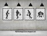 Basketball Posters, Sports Themed Classroom Decor Large 8x10 16x20