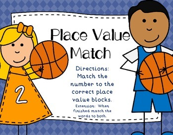 Basketball Place Value Math  Center  Statons Tubs
