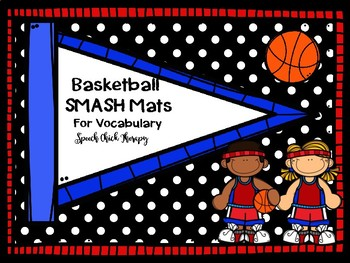 Basketball Playdough SMUSH mats for Speech and Language
