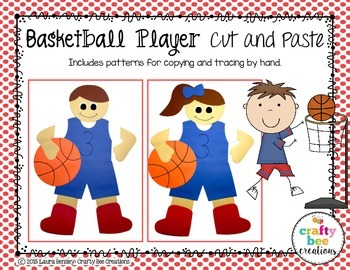 Basketball Player Cut and Paste