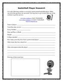 Basketball Player Research Worksheet