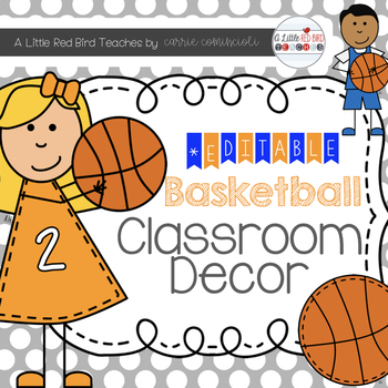 Basketball Sports Theme Classroom Decor {Editable}