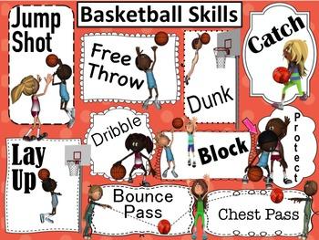 Basketball Poster: Basketball Skills Poster