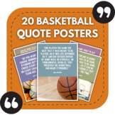 Basketball Posters - 20 Quotes About Basketball For Sports